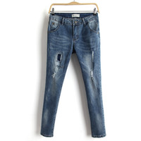 Summer Ripped Holes Pants Jeans [8173513735]
