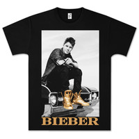 Justin Bieber  Gold Foil Car T-Shirt-