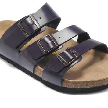 Birkenstock Orlando Sandals Leather Purple - Ready Stock