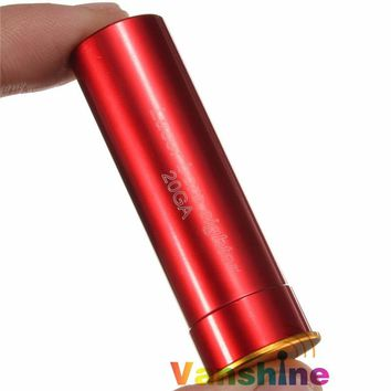 20GA 20 Gauge Cartridge Red Laser Bore Sight Sighter Collimator For Remington SAIGA Mossberg Hunting Shotgun ZERO
