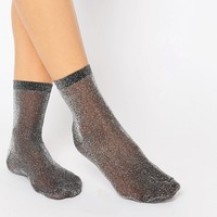 ASOS Glitter Ankle Socks at asos.com