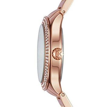 LMFMS6 Michael Kors Women's Rose Goldtone Round Face Kerry Watch