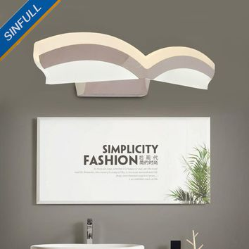 Bathroom Led Mirror Front Lamp Waterproof Anti-fog Mirror Light Simple Modern Wall Lamp Creative Dressing Table Lighting Fixture