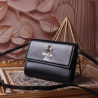 GUCCI WOMEN'S 2018 NEW STYLE LEATHER ANIMALIER INCLINED SHOULDER BAG