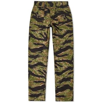 TAPER FIT 4 POCKET FATIGUE PANTS - GREEN TIGER STRIPE