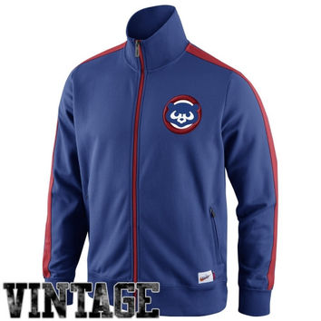 Nike Chicago Cubs Cooperstown Collection N98 Full Zip Track Jacket - Royal Blue