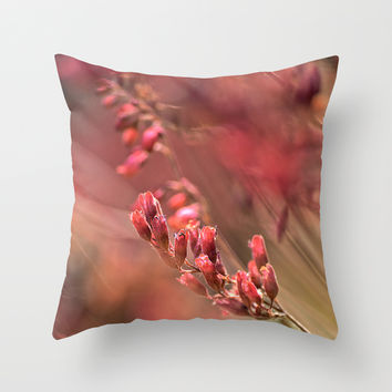 RED SPANGLES no1 Throw Pillow by Pia Schneider [atelier COLOUR-VISION]
