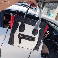 Celine Women Fashion Leather Satchel Bag Shoulder Bag Handbag 6
