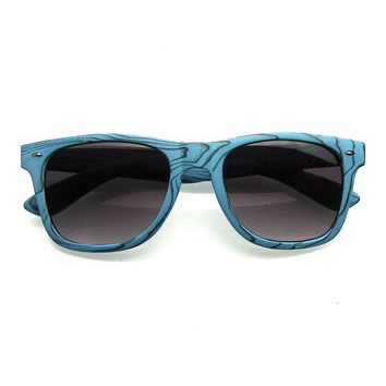 Unique Style Indie Fashion Wood Print Retro Horned Rim Sunglasses