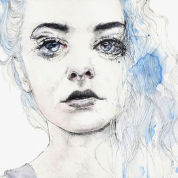 aquamarine freak Art Print by agnes-cecile