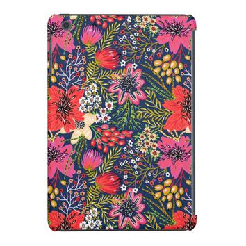 Cute Vintage Bright Floral Pattern iPad Mini Case
