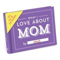 What I Love About Mom Fill In The Blank Journal