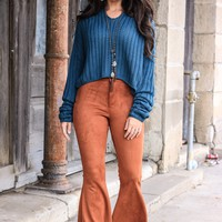 Famous Rust flare pants