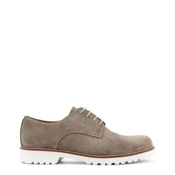 """Men's Brown Italian Suede """"Made in Italia CIELO"""" Dress Shoes with White Rubber Soles"""