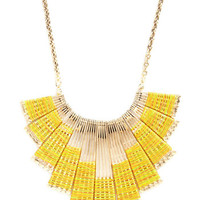 ModCloth Statement Campfire of the Sun Necklace