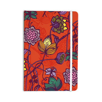 "Gill Eggleston ""Garden Blooms Hot Orange"" Red Floral Everything Notebook"