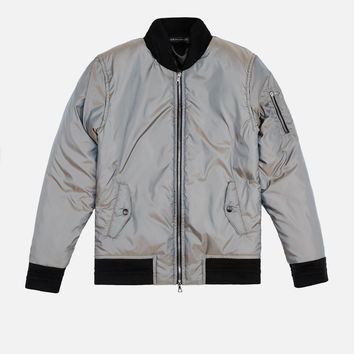 Iridescent Flight Jacket / Plaster
