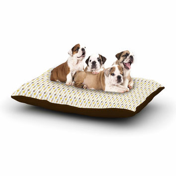 "Petit Griffin ""Golden Arrows"" Gold Yellow Dog Bed"
