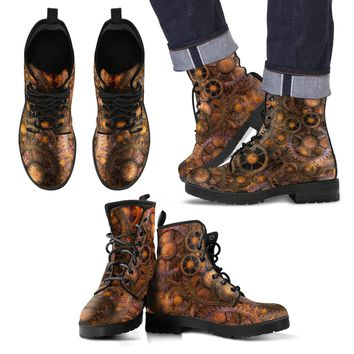 Steampunk Men's Boots   Leather Boots