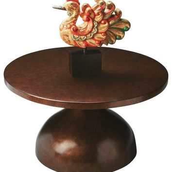 Butler Chalice Round Metal Coffee Table