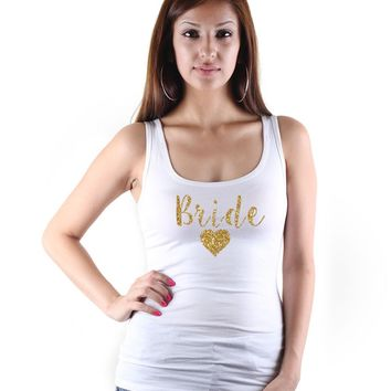 Bride Heart Print Tank Top - Women's Sleeveless Shirt