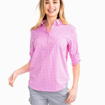 Gingham Intercoastal Hadley Popover