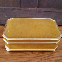 Vintage Mustard Yellow Velvet Jewelry Box Great For Jewelry Storage and Display