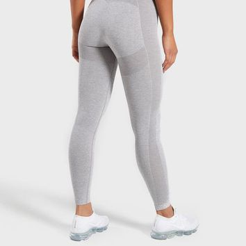 Gymshark Flex High Waisted Leggings - Light Grey/Blue