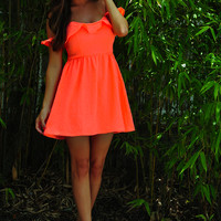 Be The One Dress: Neon Coral