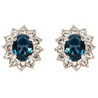 CLASSIC 2ct Sapphire Stud Clip On Earrings