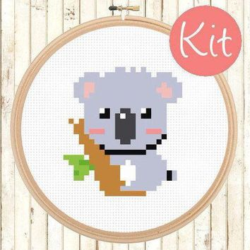 Beginner Koala Cross Stitch Kit