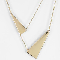 Urban Outfitters - Two Triangles High/Low Necklace