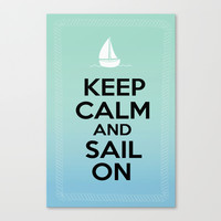 Sail On- Boat Canvas Print by BeccaBlueyes