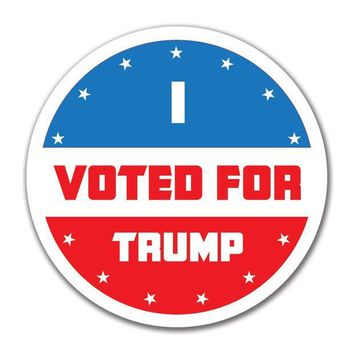 PEAPGQ9 Election 2016 I Voted For Trump 4x4 Round Sticker