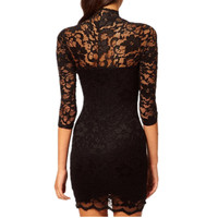 Lace Crochet Slim Dress