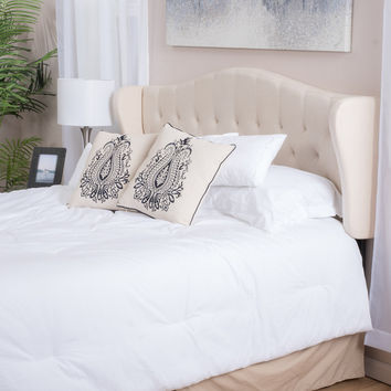 Christopher Knight Home Alford Adjustable Beige Fabric Headboard | Overstock.com Shopping - The Best Deals on Headboards