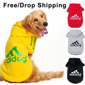 Dog clothes for dogs Large size winter autumn coat Big dogs Hoodie apparel 100% Cotton Provide 3XL- 9XL Free drop shipping D25 = 1929786564