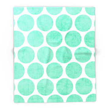 Society6 Mint Polka Dots Blanket