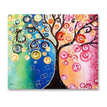 Tree Wall Art, Acrylic Tree Painting, Large Tree of Life Wall Decor, Living Room Decor, Office Decor Art, Bedroom Decor Art  20x24