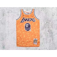 Bape x Mitchell & Ness ABC Basketball Swingman Jersey - Lakers