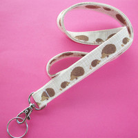 Lanyard ID Badge Holder - Hedgehogs - Lobster clasp and key ring
