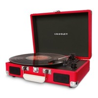 Crosley Cruiser Retro Turntable CR8005A - It's Portable! - Red