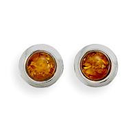 Baltic Amber with Polished Edge Earrings