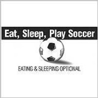Soccer t-shirt: Eat, Sleep, Play Soccer -