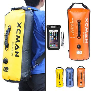 The New Waterproof Dry Bag - 30L Roll Top Dry Compression Sack with Air Value Adjustable Shoulder Straps Carry Handle - Come wit