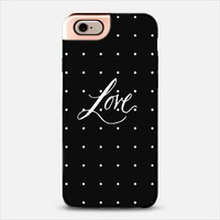 Polka dot LOVE iPhone 6 case by DuckyB | Casetify