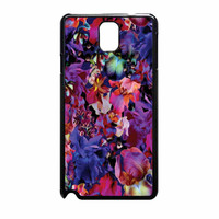 Lush Floral Pattern Beaming Orchid Purple Samsung Galaxy Note 3 Case