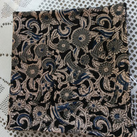 Napkins made with Indian Cotton Fabric with Kalamkari Print in Black and Blue Ideal for Dinner Parties or as a Gift