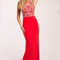 JP22117 red - Jovani Platinum Prom collection