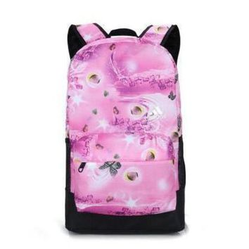 LMFUP0 Adidas Fashion Butterfly Print Sport Shoulder Bag Travel Bag School Backpack